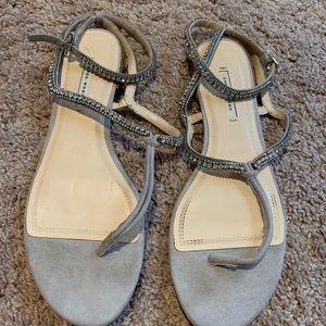 Zara rhinestone wrap sandals